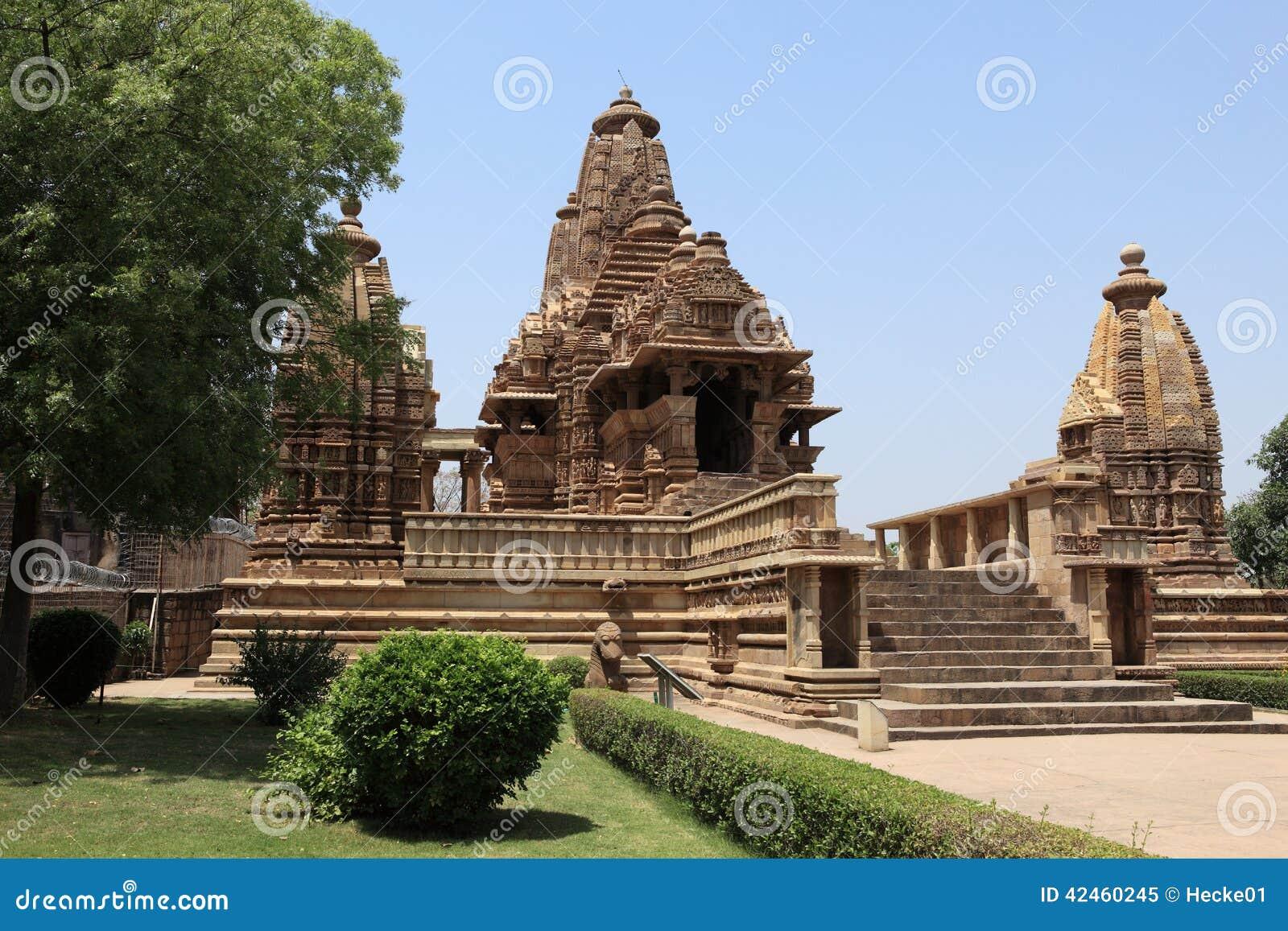 Tempel-Stadt von Khajuraho in Indien