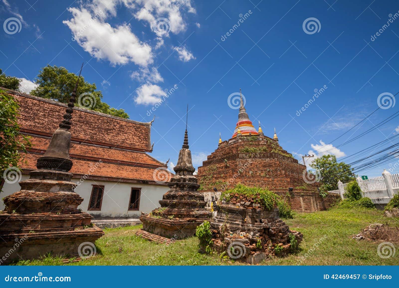 Tempel in Thailand wird Wat Ratchaburana, Phitsanulok genannt