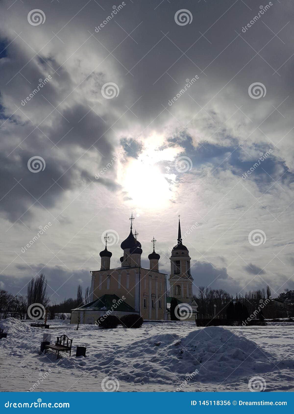 Tempel Uspensky Admiralität in Voronezh