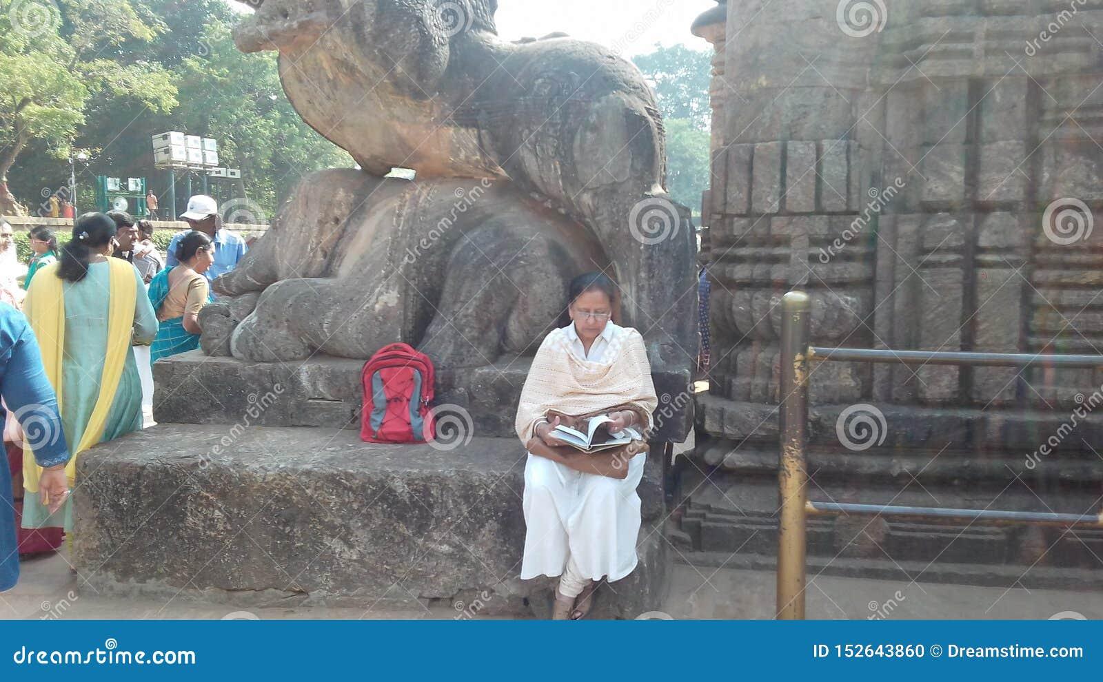 Tempel van de Anicient de beroemde zon bij konarakodissa India