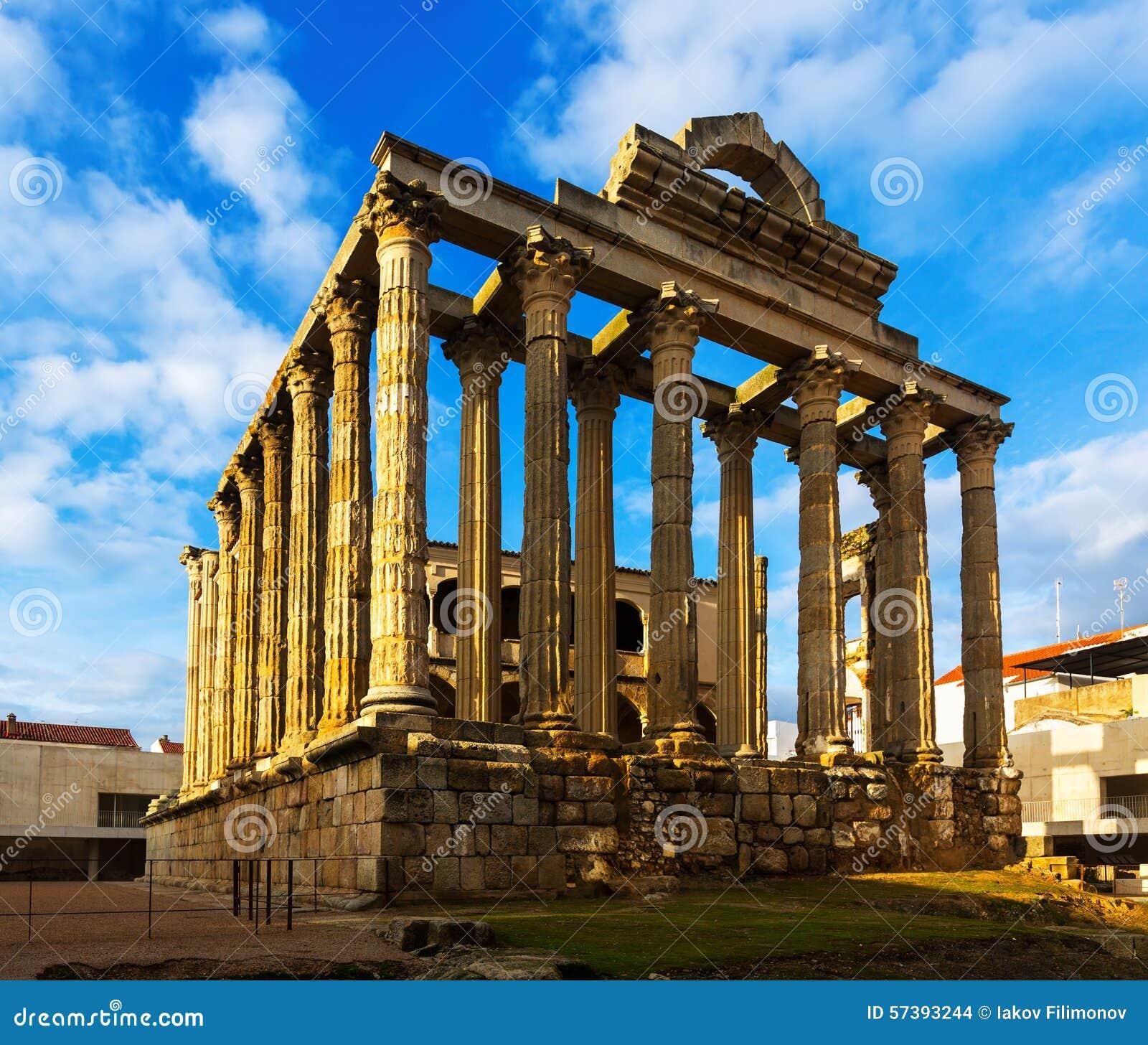 Tempel van Diana in Merida, Spanje