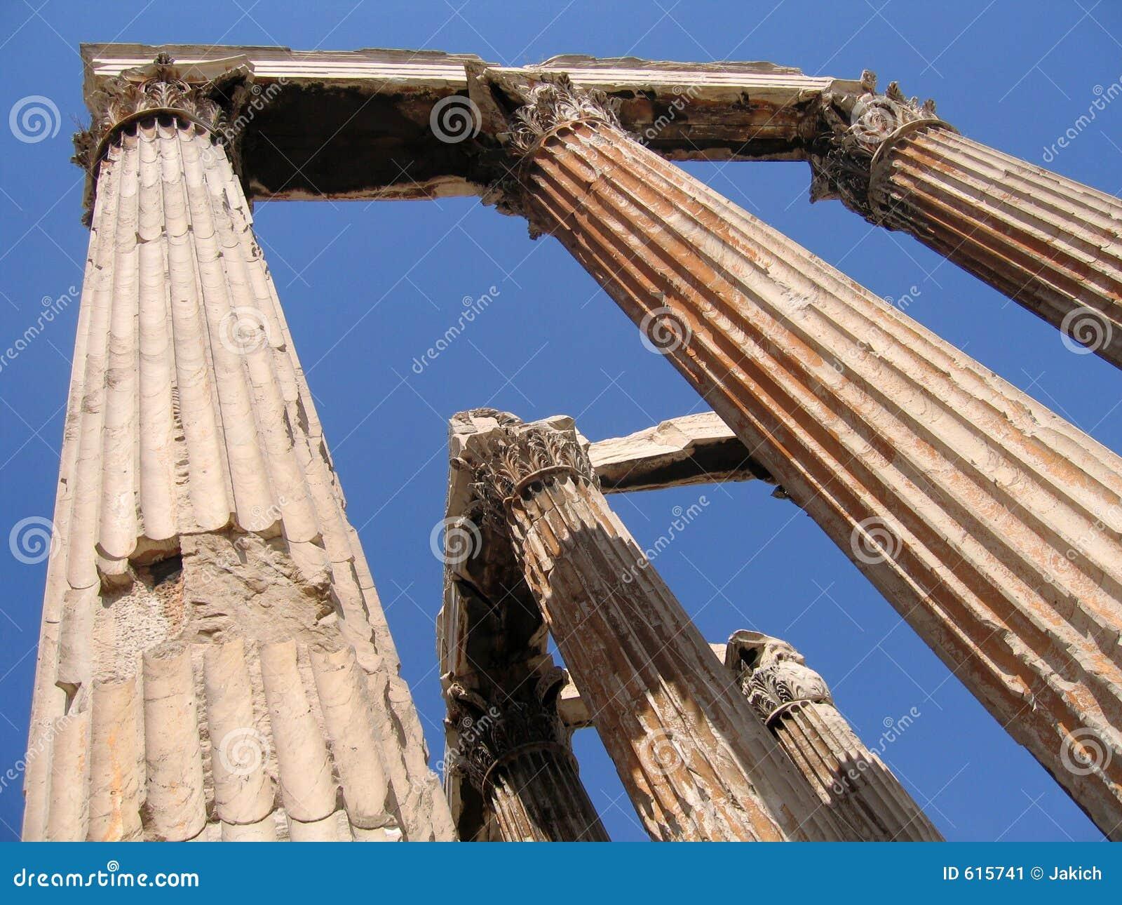 Tempel van Olympian Ruïnes Zeus
