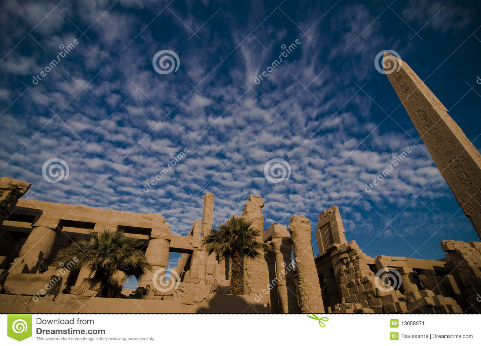 Tempel von Amun, Karnak Tempel, Ägypten.