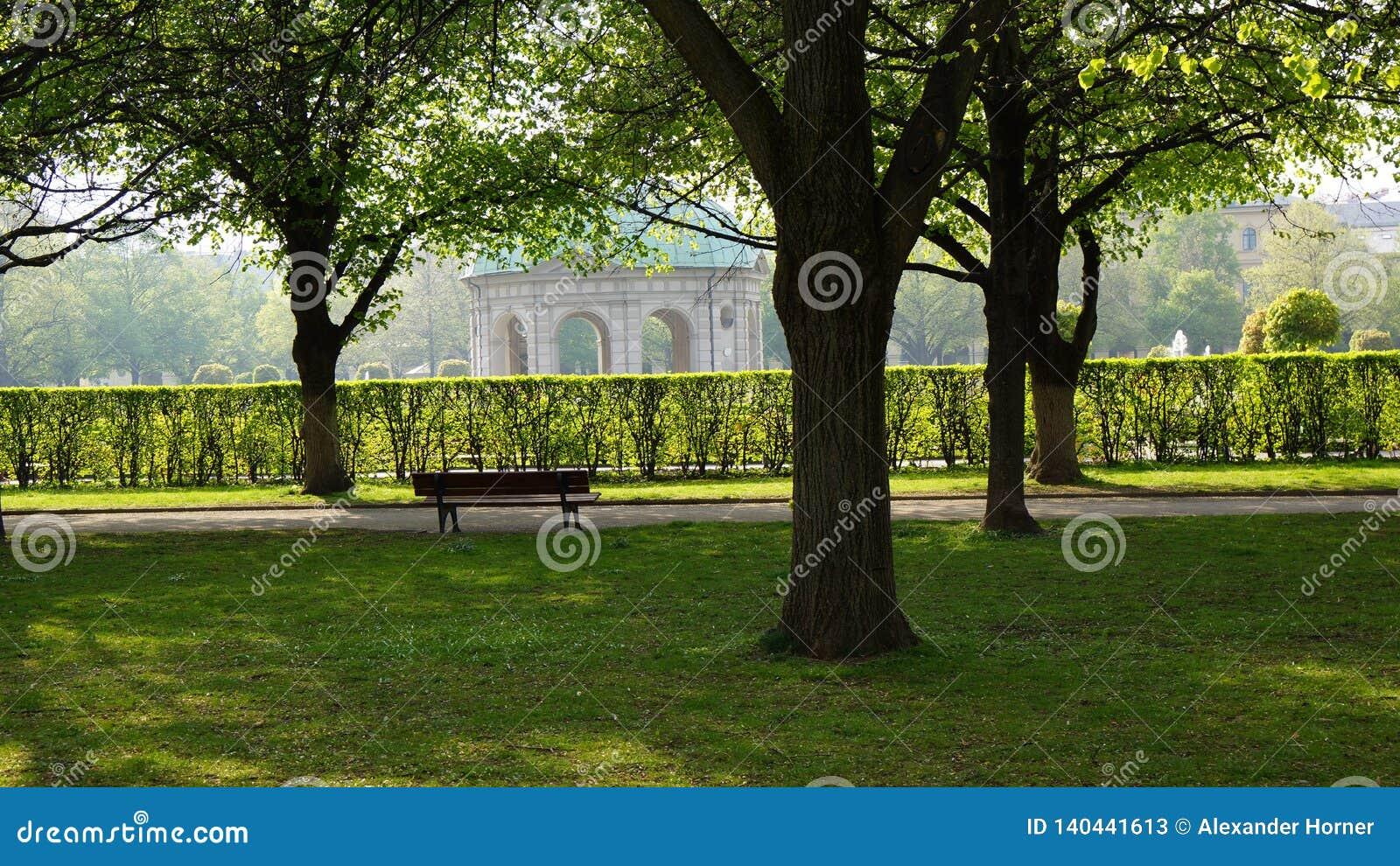 Tempel von Park-München-Bayern englischen Gartens Dianas königlichem