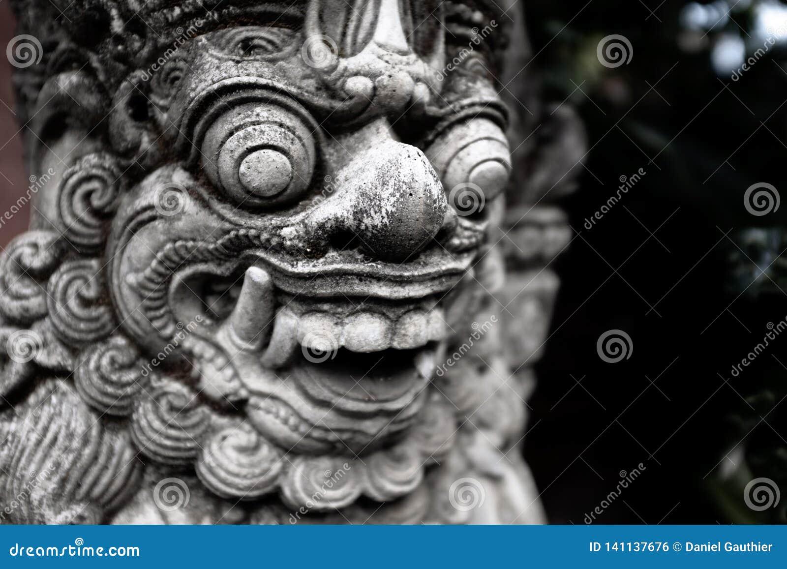 Tempelportförmyndare Dvarapala, Bali