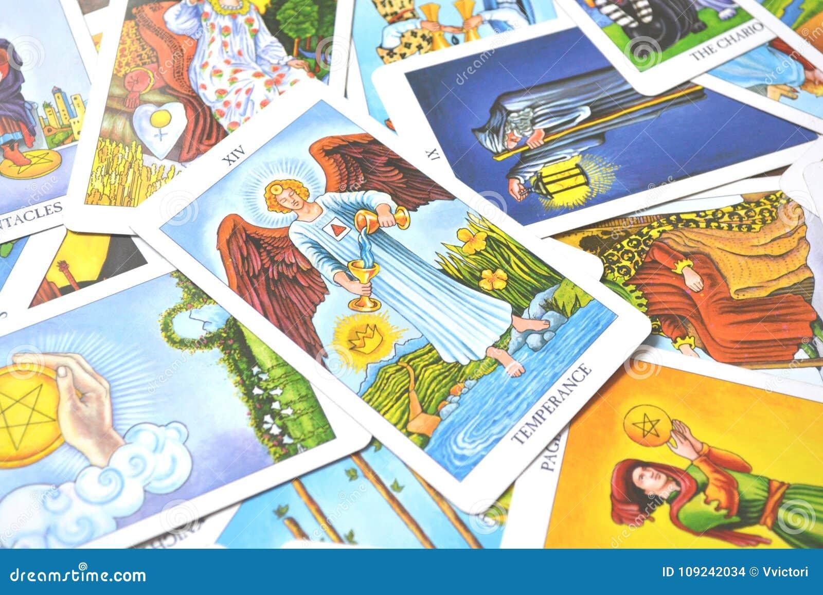 Temperance Tarot Card Healing Harmony Adaptability Stock