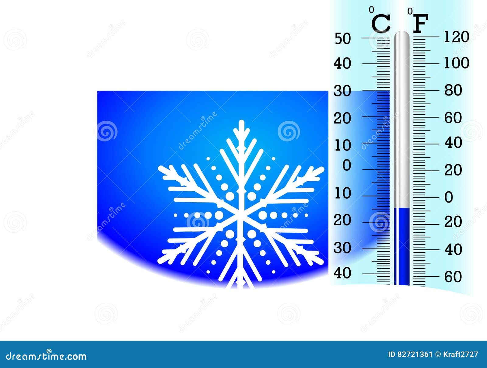 Temperatura Sotto Zero Sul Termometro Illustrazione Vettoriale Illustrazione Di Illustrazione Clip 82721361 Temperature in calo, arriva la neve a bassa quota. dreamstime