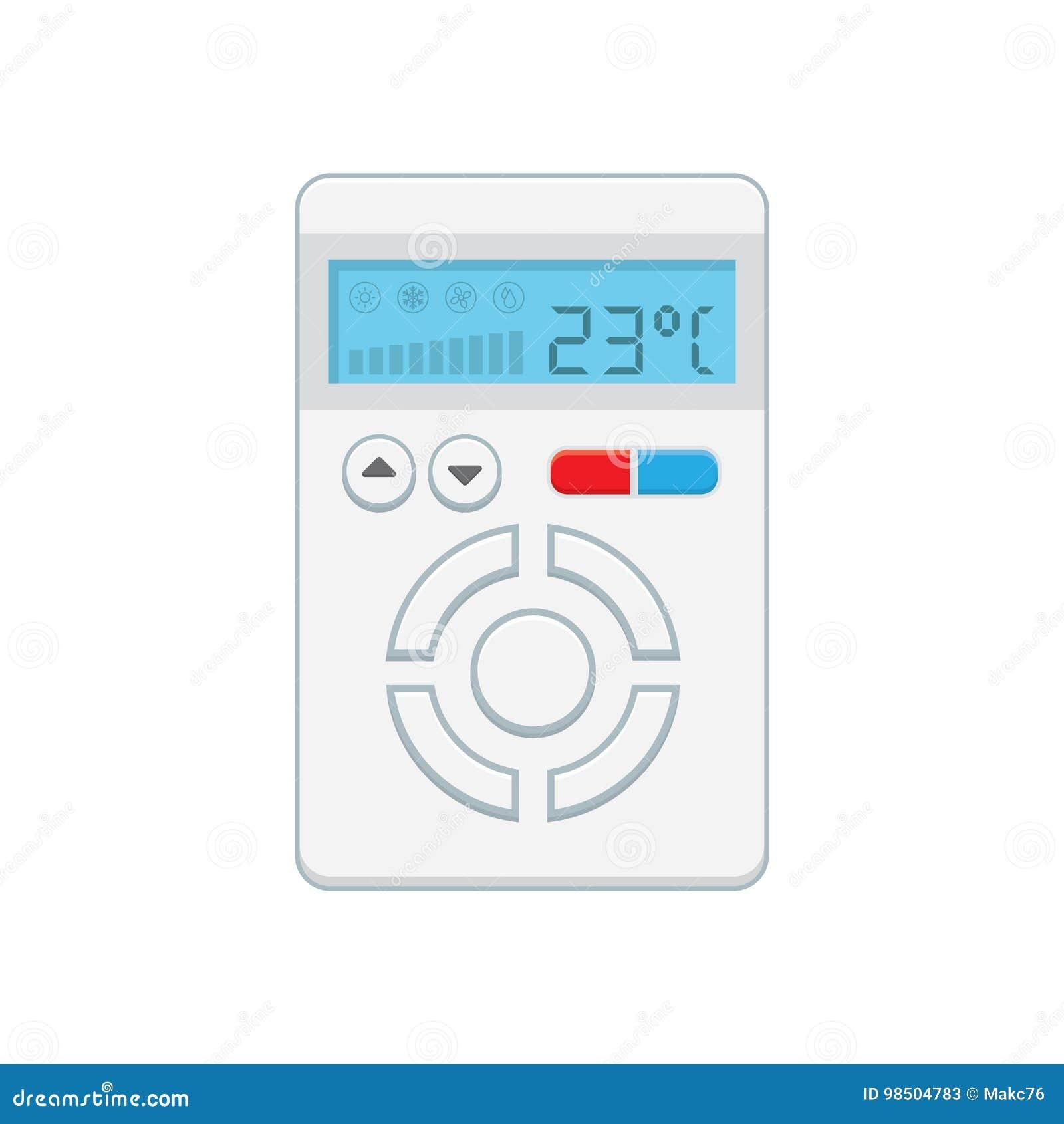 Temperaturbegrenzer Elektronischer Thermostat Mit Einem Schirm