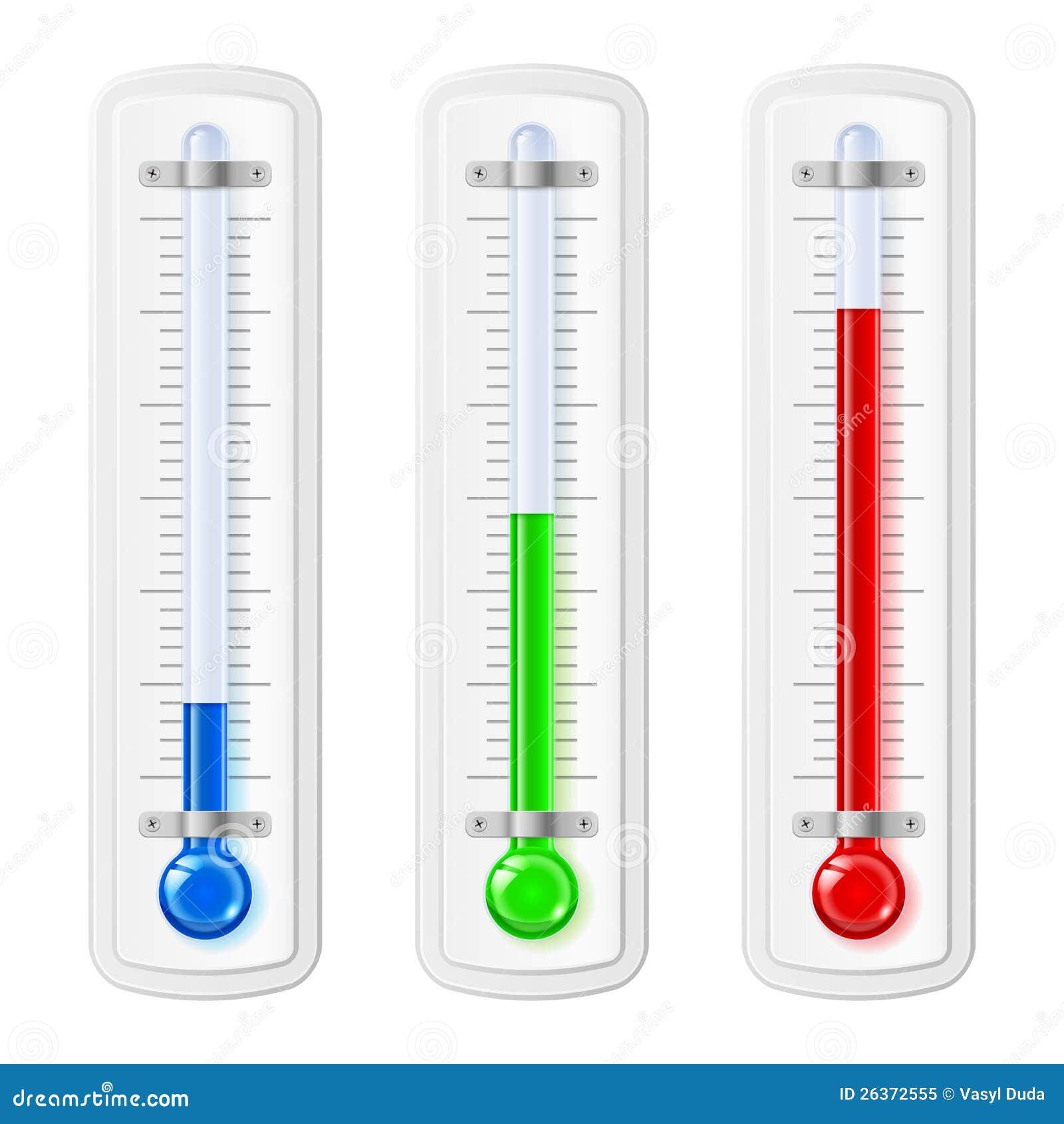 Temperaturschauzeichen