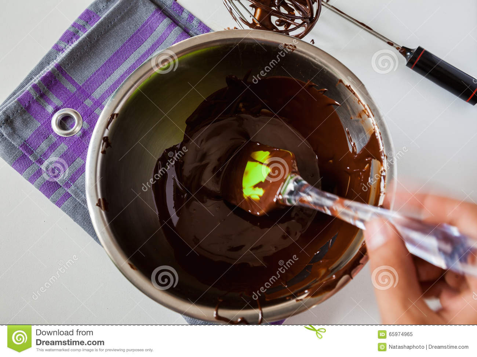 Tempering Chocolate Stock Photo - Image: 65974965