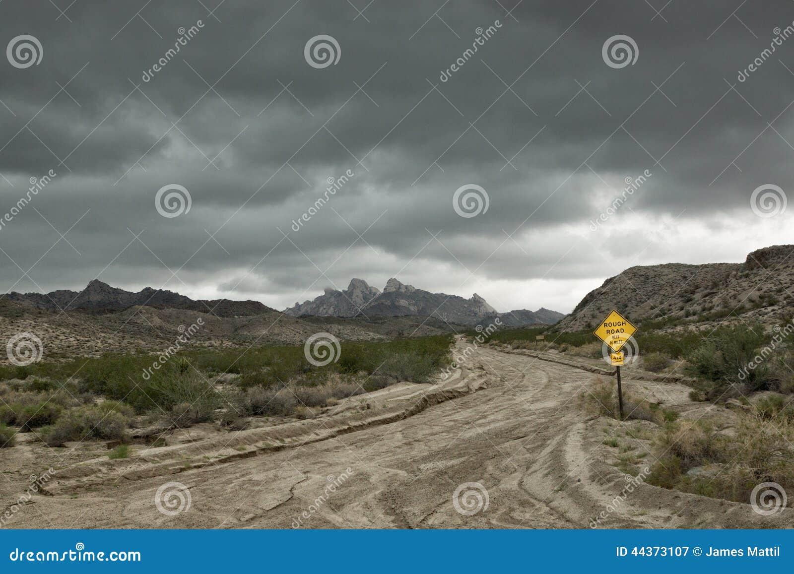 Tempesta di monsone nel deserto