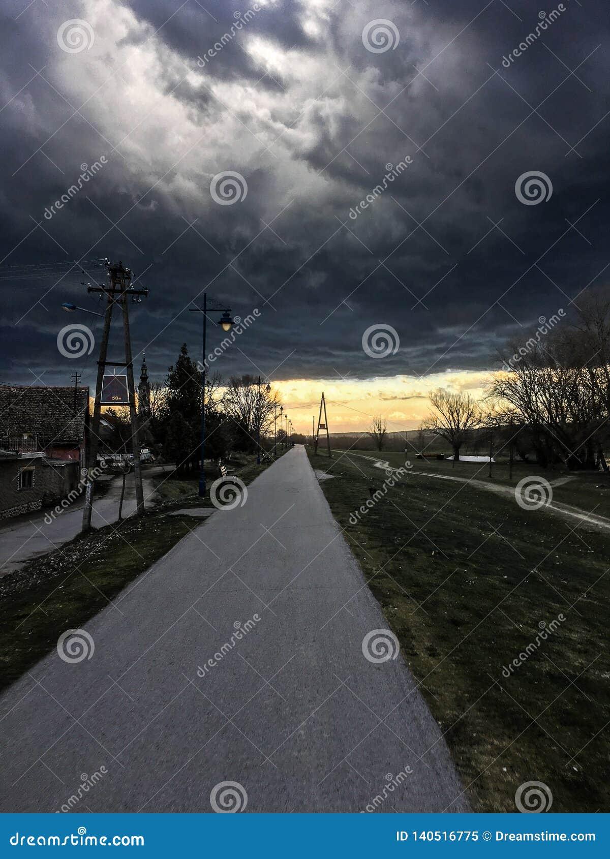 A tempestade está vindo