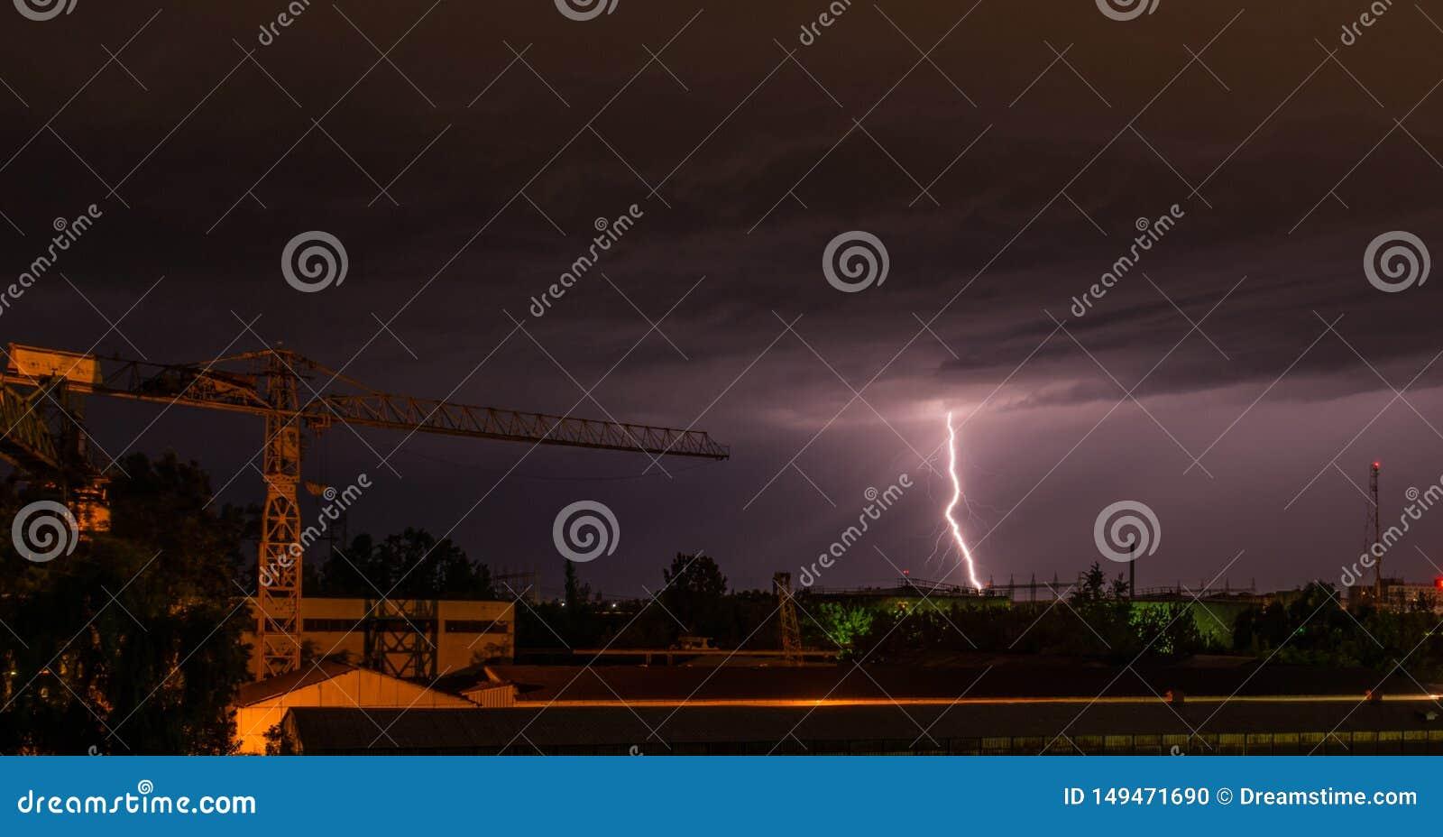 Tempestade na cidade