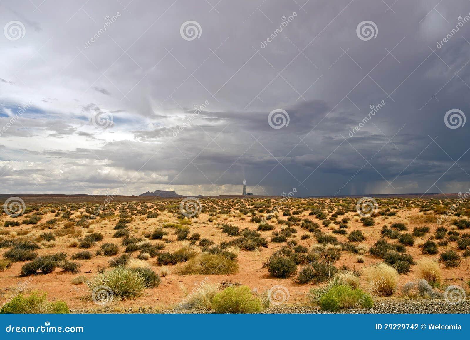 Tempestade no deserto o Arizona