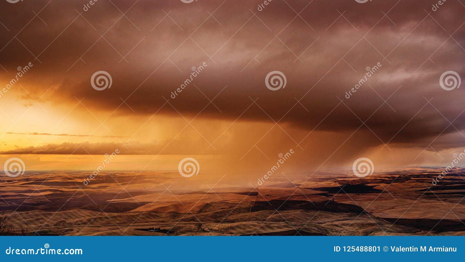 Tempestade sobre os campos