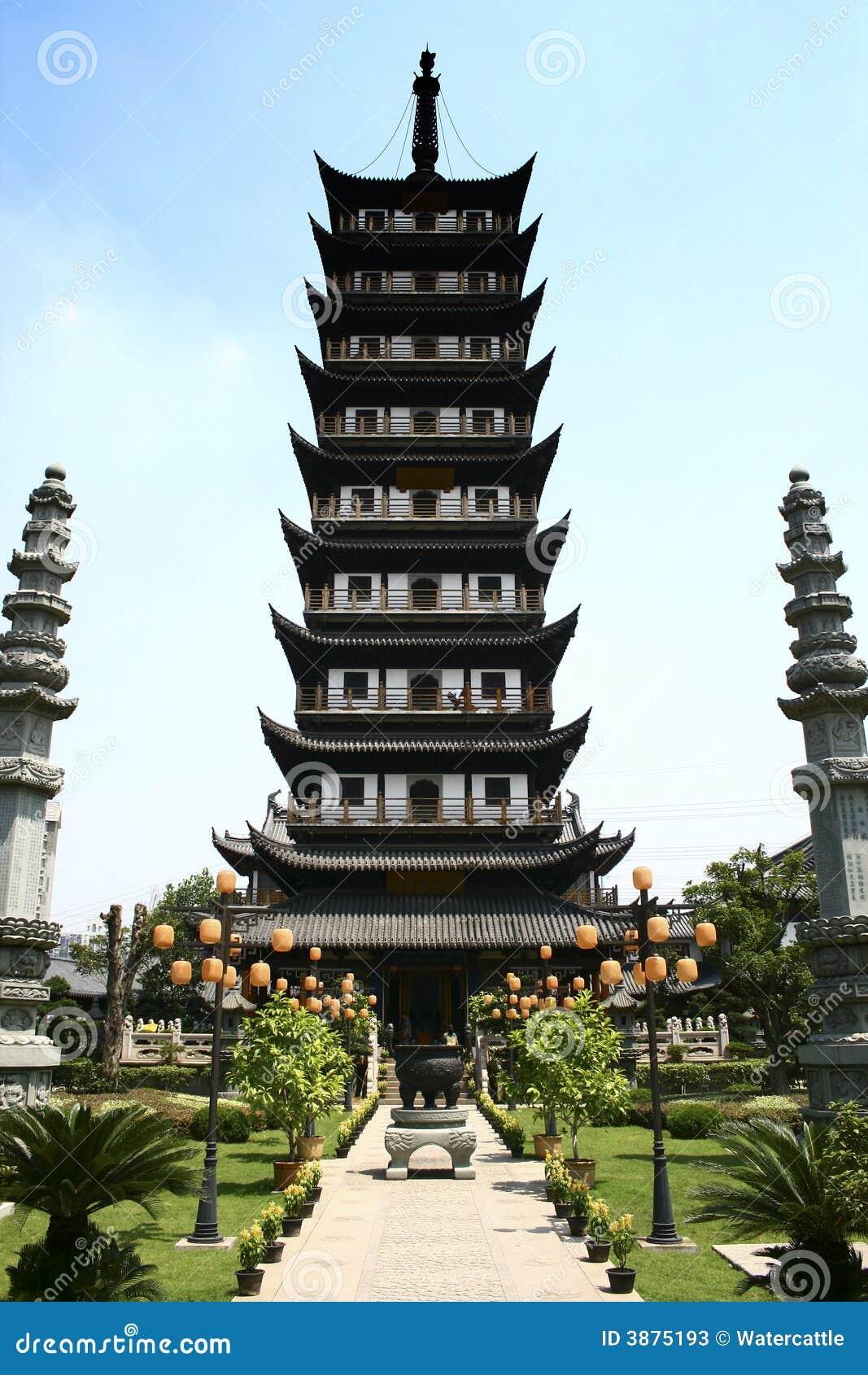 Tempiale antico dello Zhen gu, torretta Cina