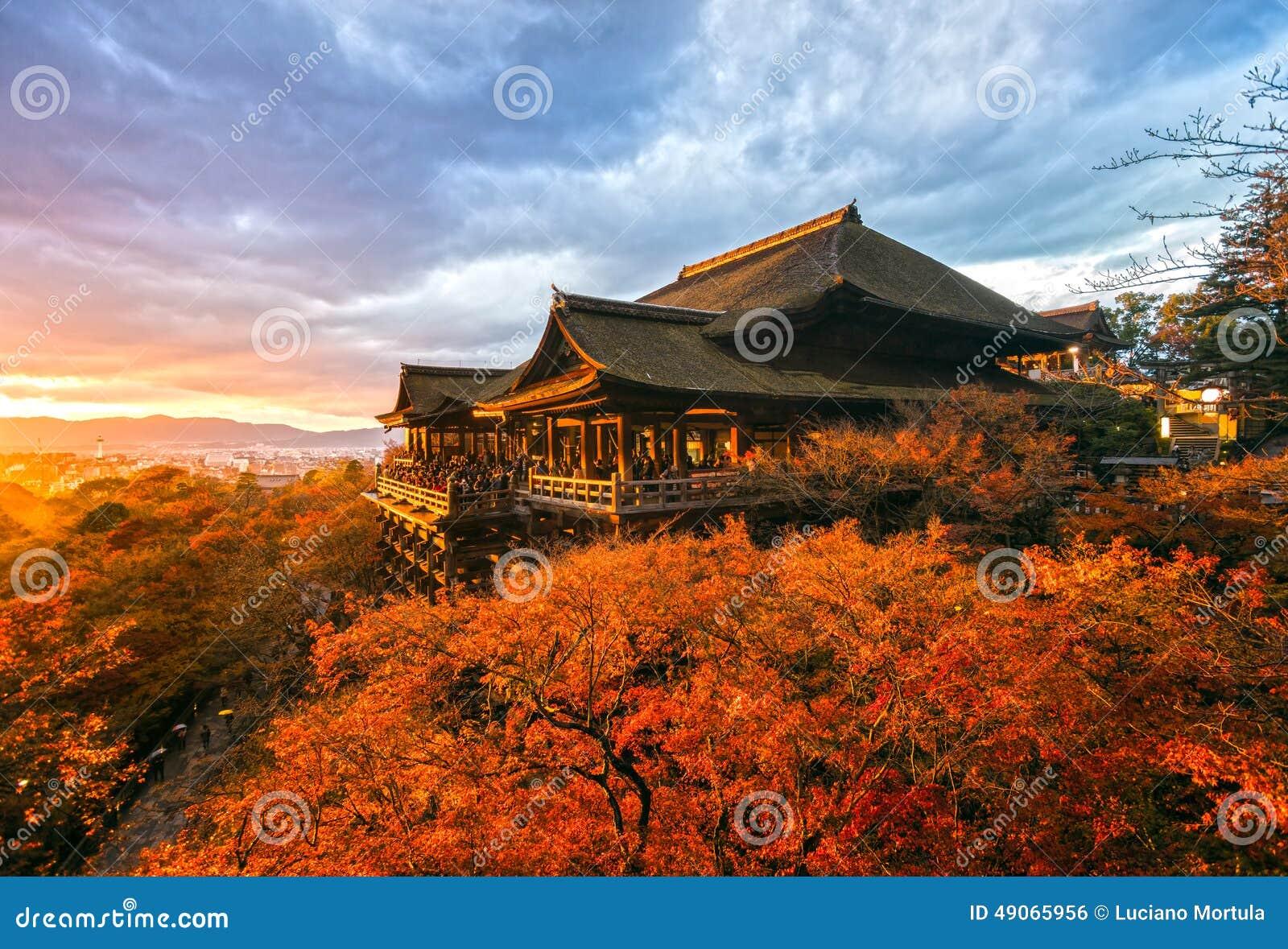 Tempiale di Kiyomizu-dera a Kyoto, Giappone
