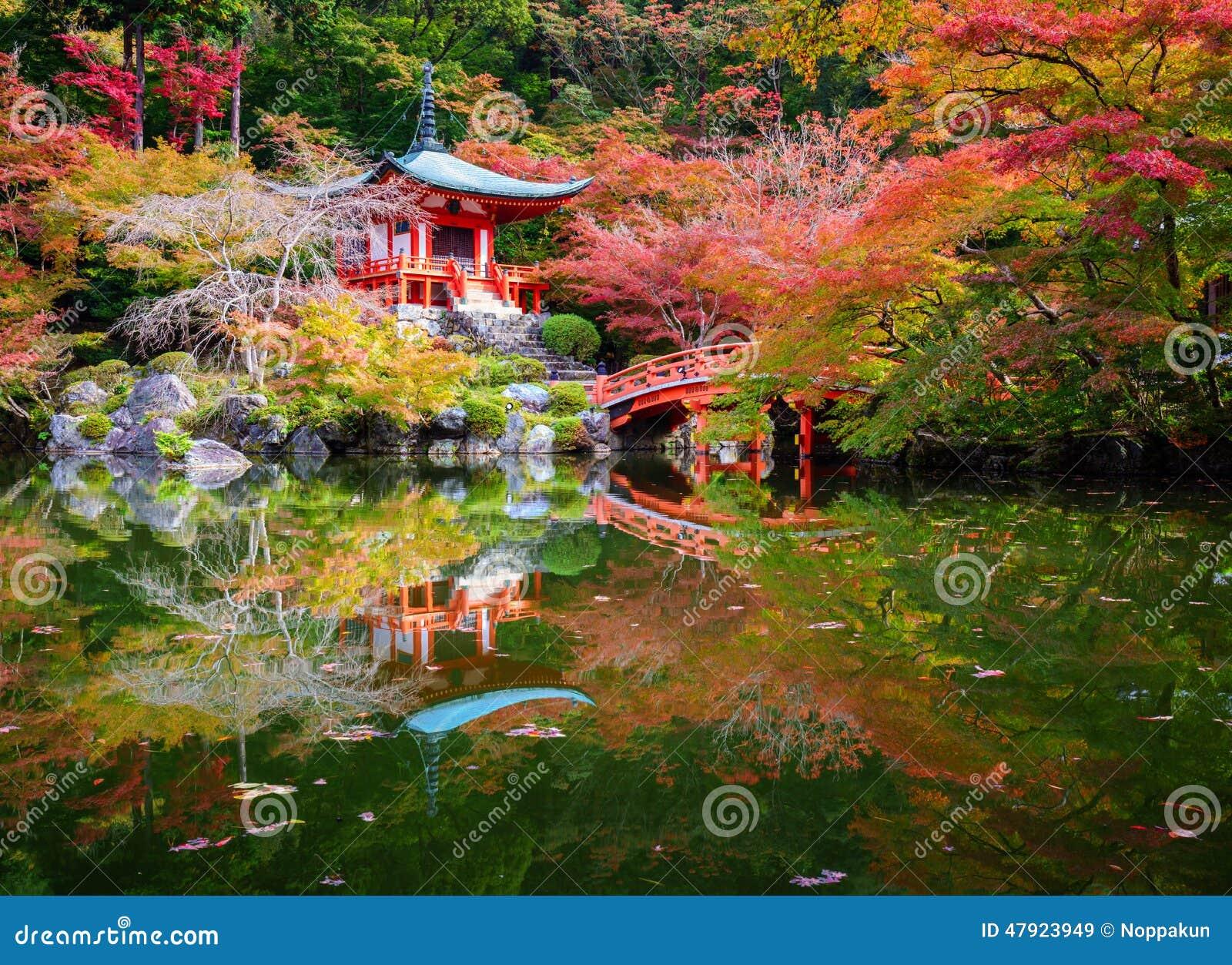 Tempio in autunno, Kyoto, Giappone di Daigoji