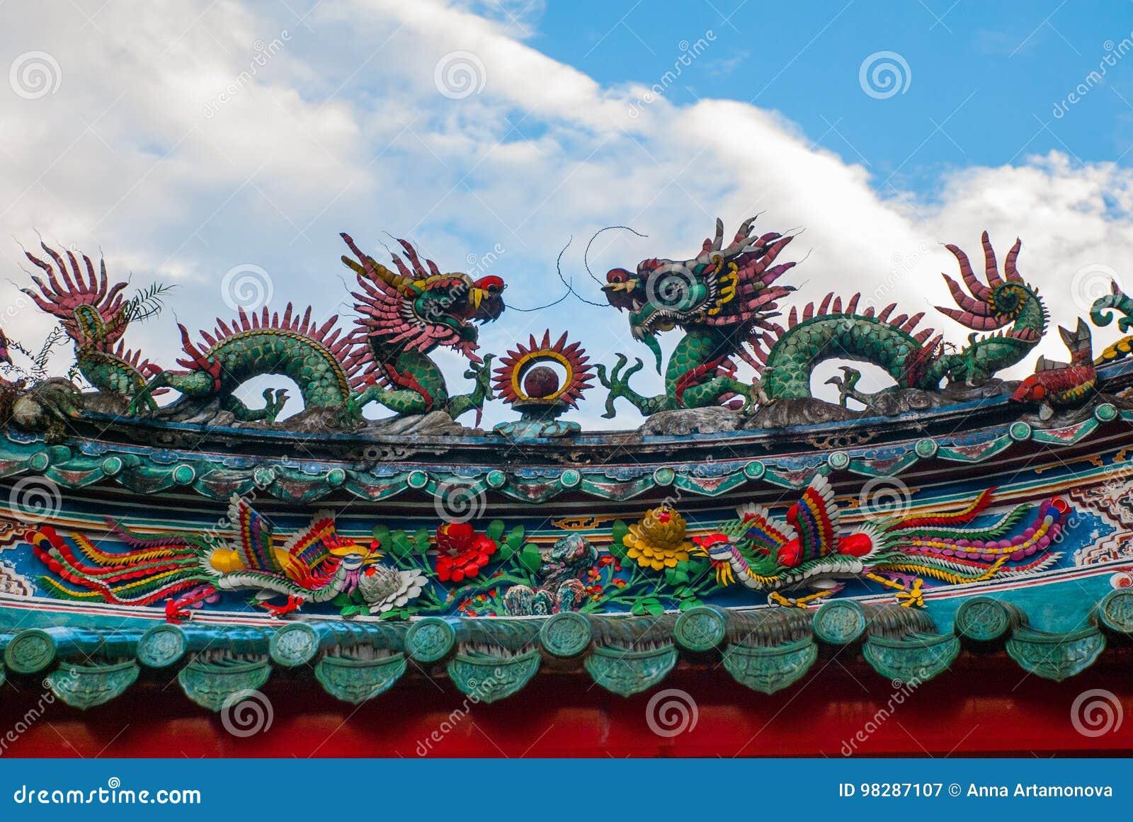 Tempio cinese in Chinatown Kuching, Sarawak malaysia borneo