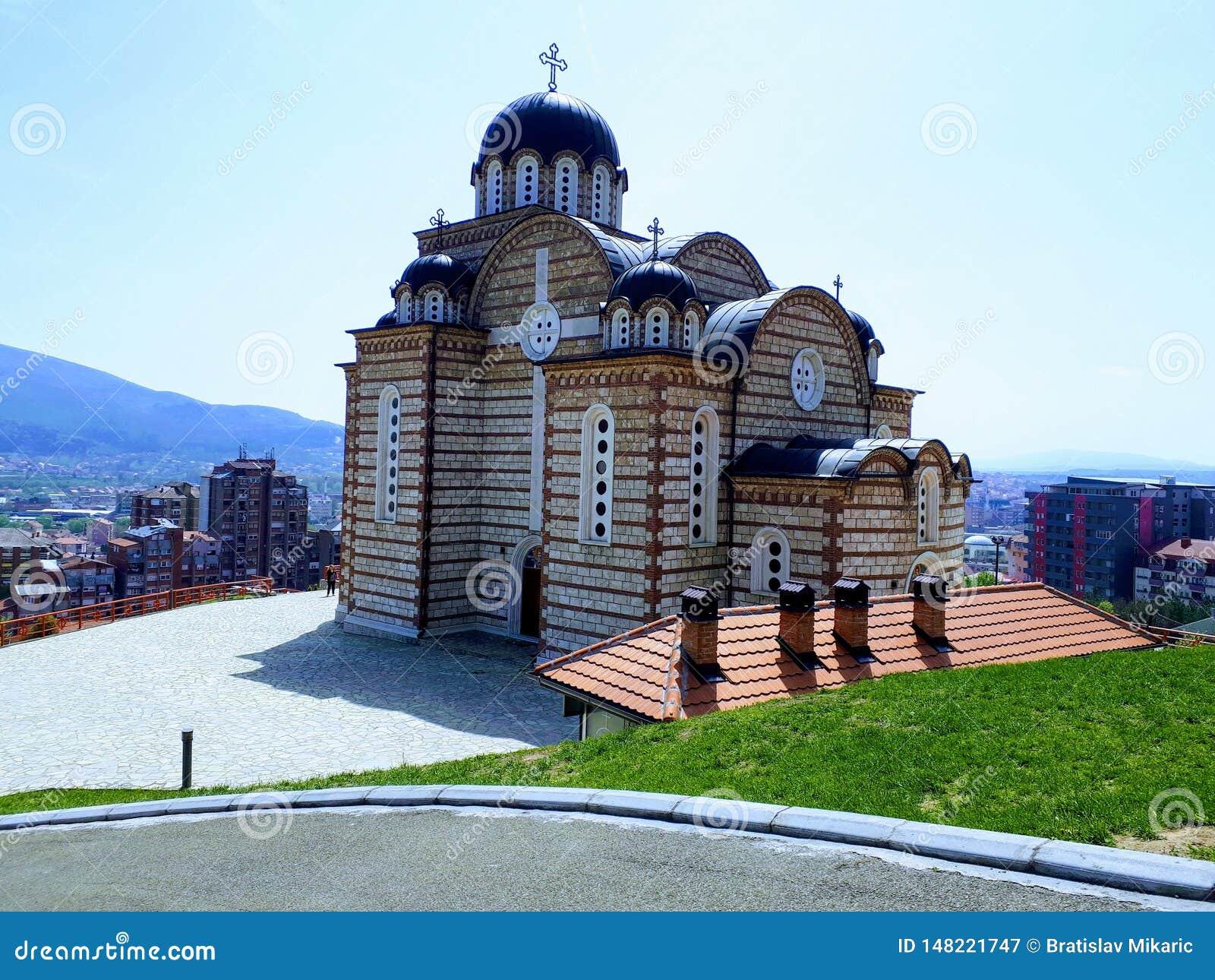 Tempio della st Dimitrija a Kosovska Mitrovica, Serbia, XXI secolo