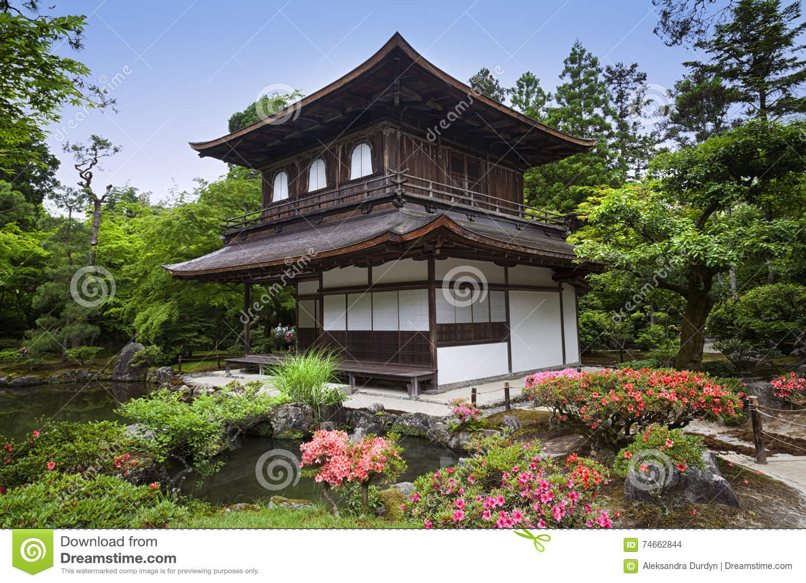 Tempio di ginkaku ji del padiglione d 39 argento a kyoto for Piani di progettazione del padiglione