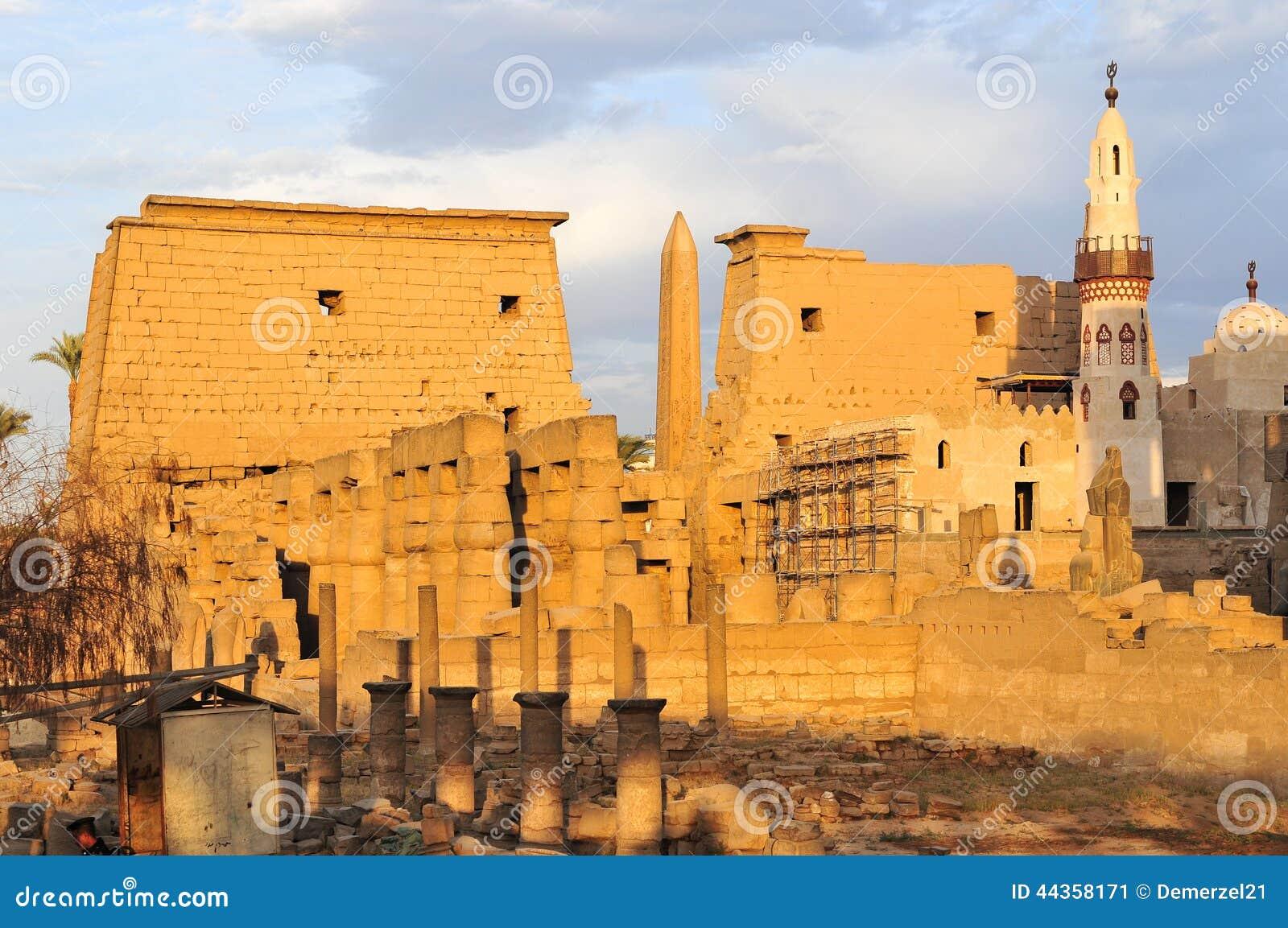 Tempio di Luxor, Egitto al tramonto
