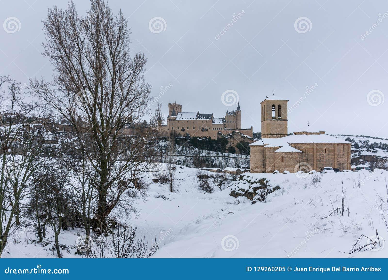 Templar Church Of Veracruz And Alcazar Of Segovia In Spain