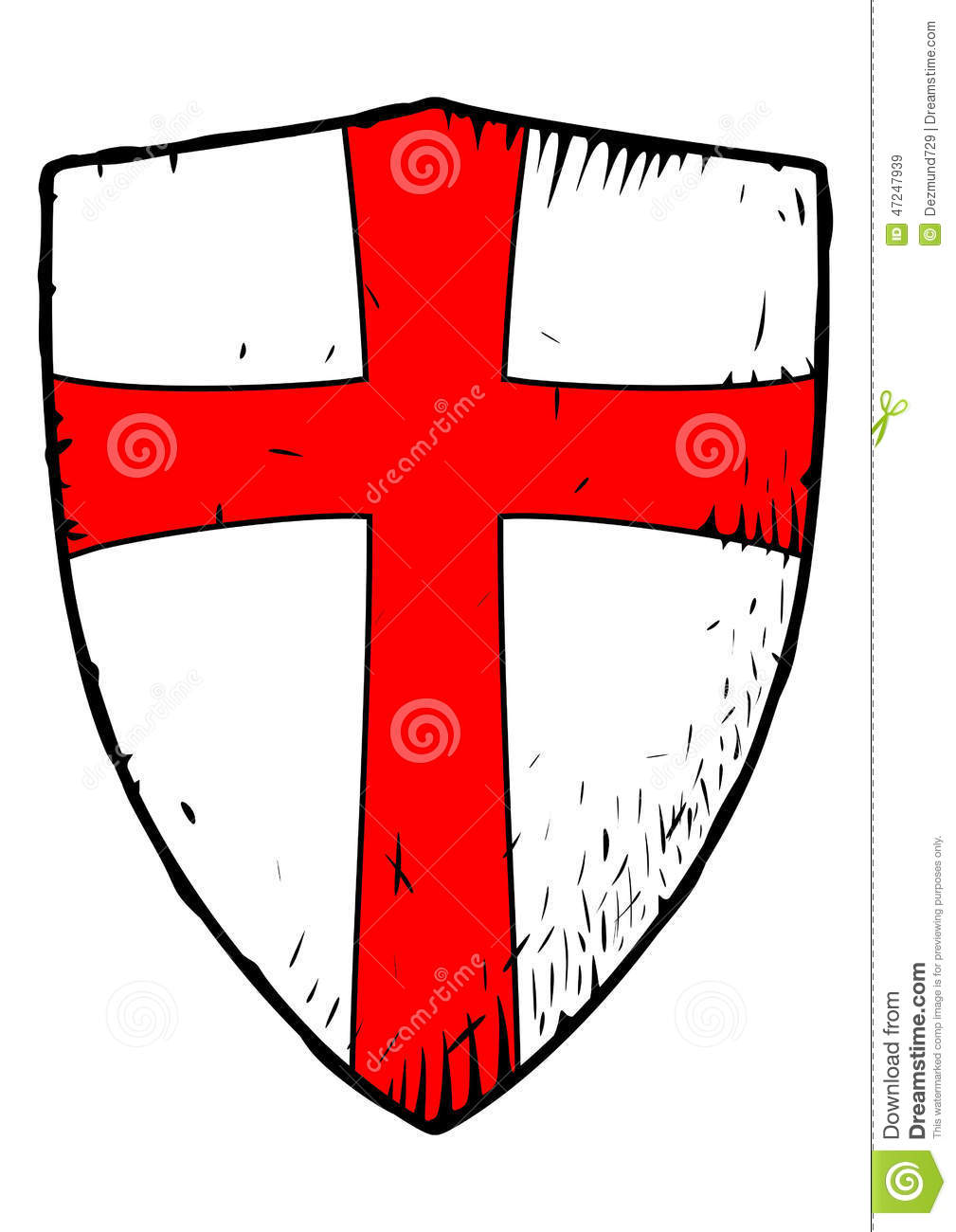 Templar shield with a red cross stock vector illustration of templar shield with a red cross biocorpaavc Choice Image