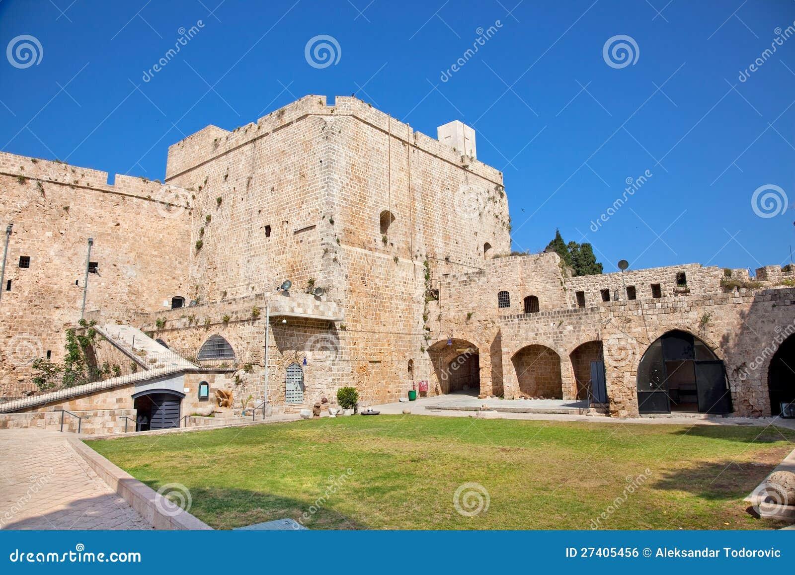 Templar slott för riddare i tunnland, Israel