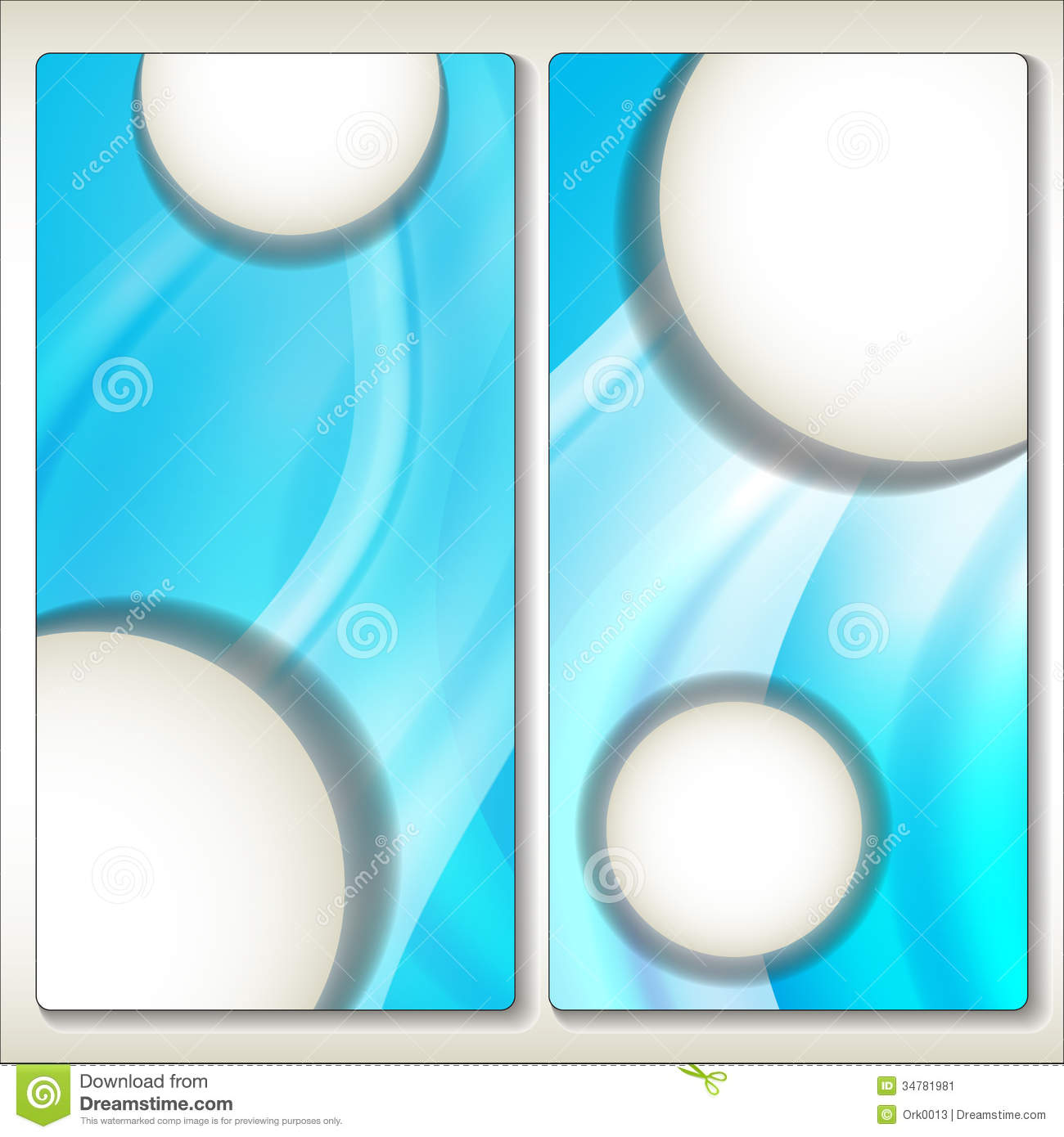 Abstract brilliant advertising card template.