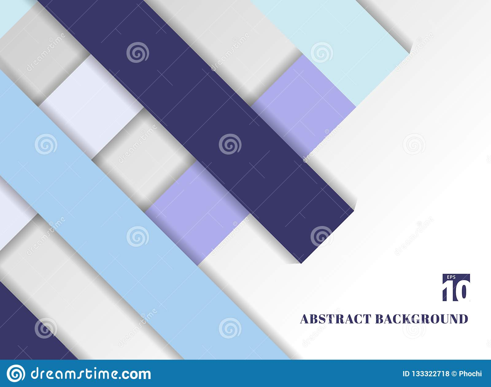 Template abstract geometric blue color tone background with square frames.