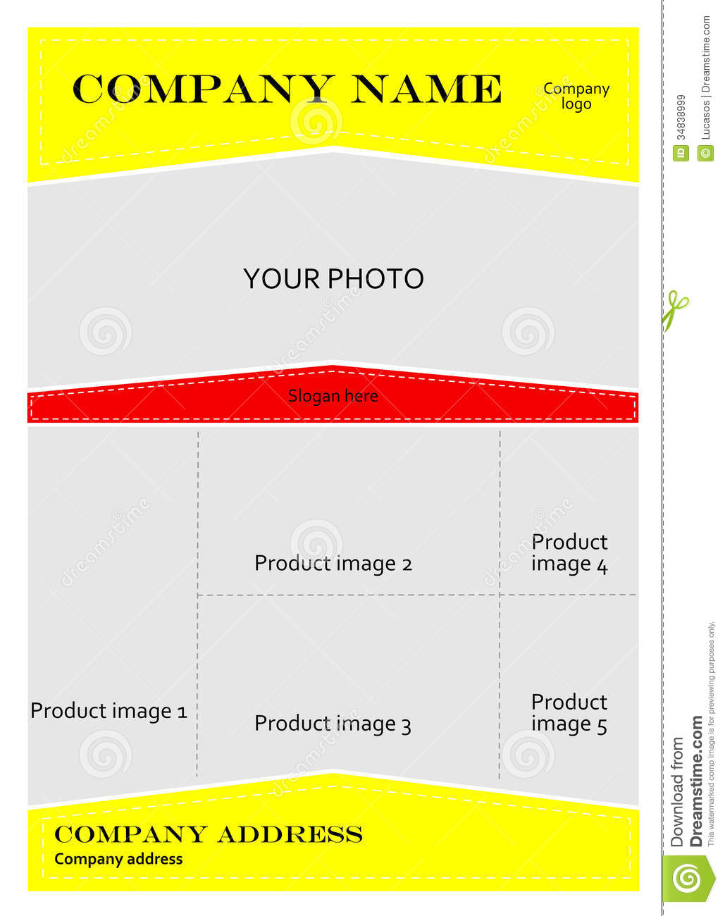 advertising brochure templates - template for advertising brochure royalty free stock
