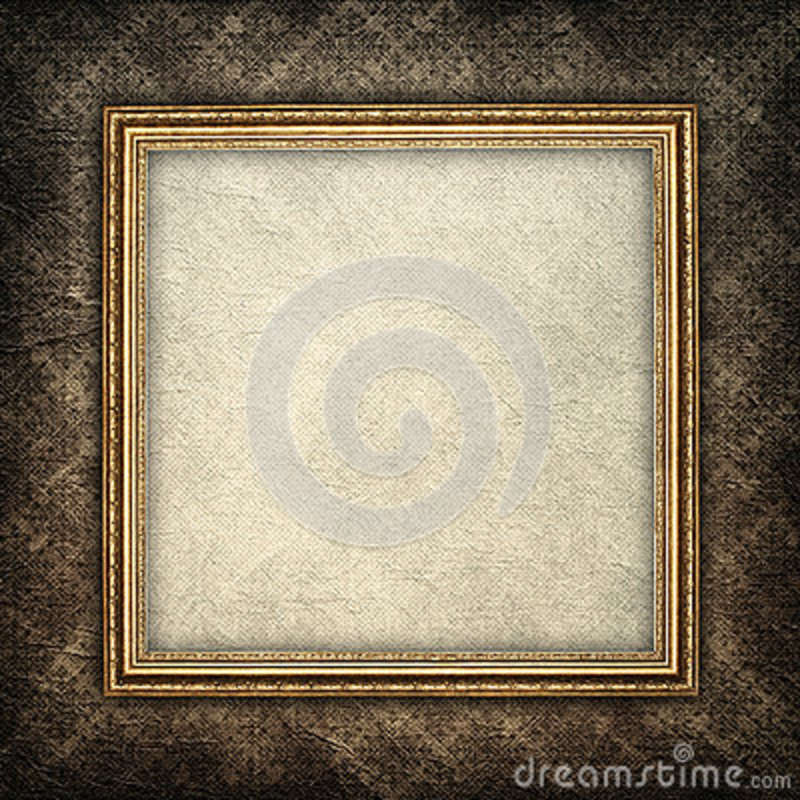 Template background - paper sheet in picture frame