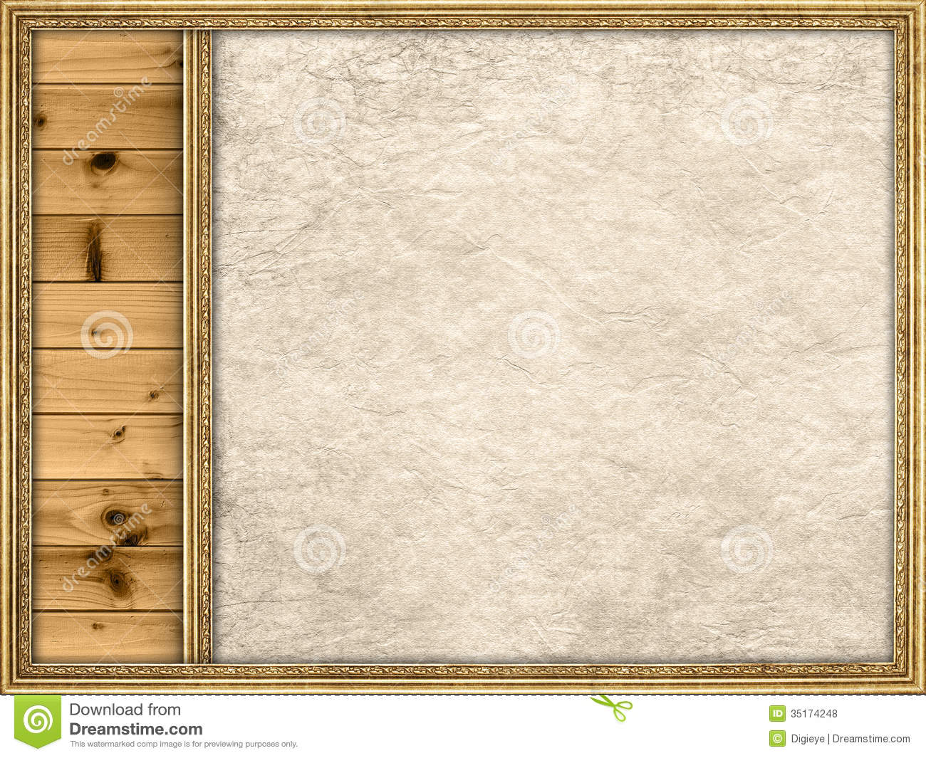 Template Background Planks And Paper Sheet Stock Photo Image Of
