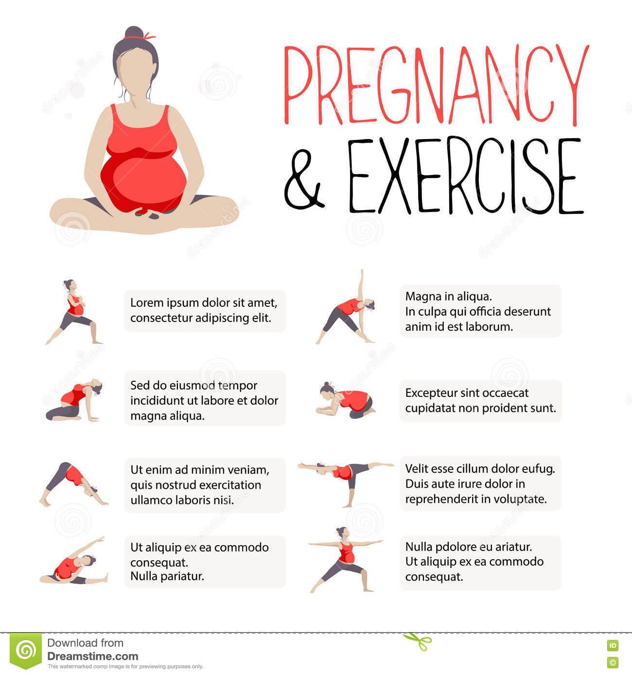 Template Of Banner For Advertising Pregnant Yoga. Stock ...