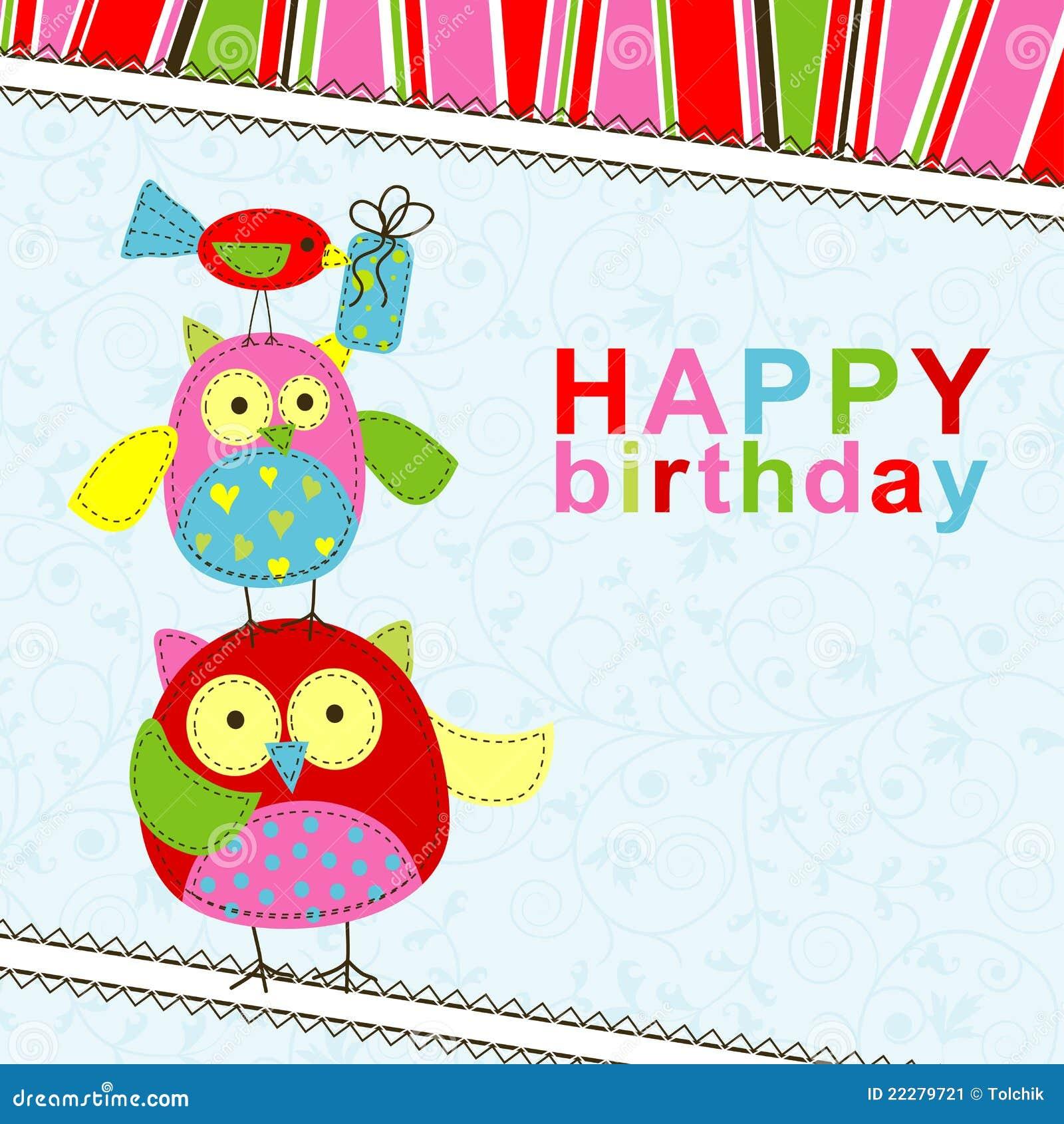 Template Birthday Greeting Card Stock Image - Image: 22279721