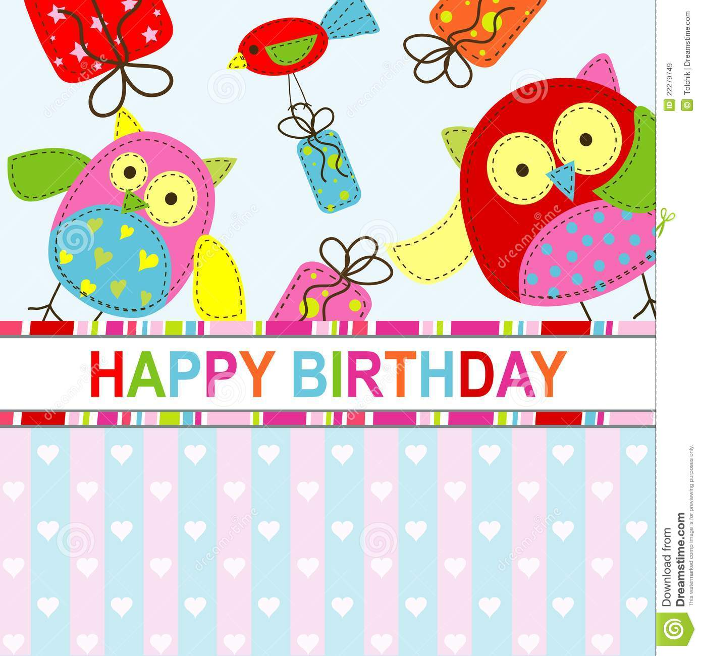 Template Greeting Card Royalty Free Stock Image: Template Birthday Greeting Card Stock Vector