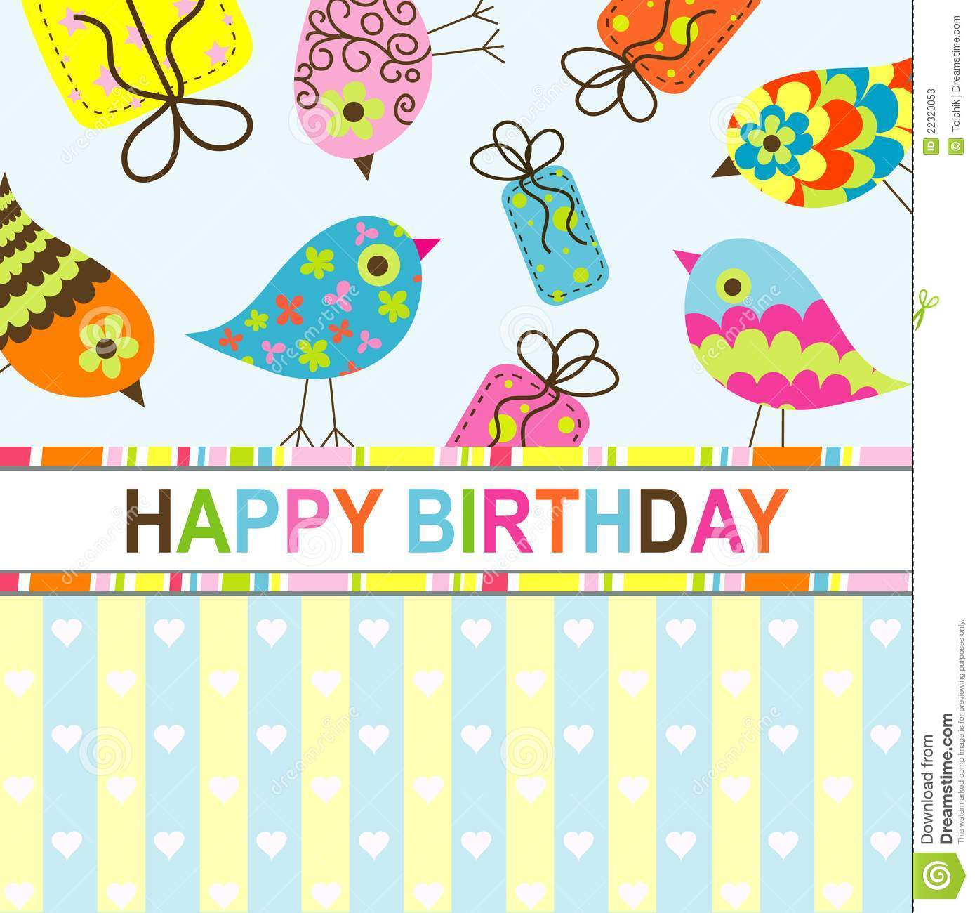 template birthday greeting card stock image  image, Birthday card
