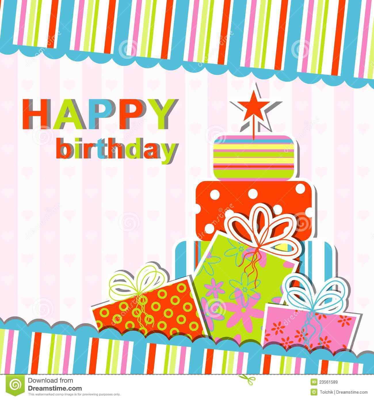 Template Greeting Card Royalty Free Stock Image: Template Birthday Greeting Card Royalty Free Stock Images
