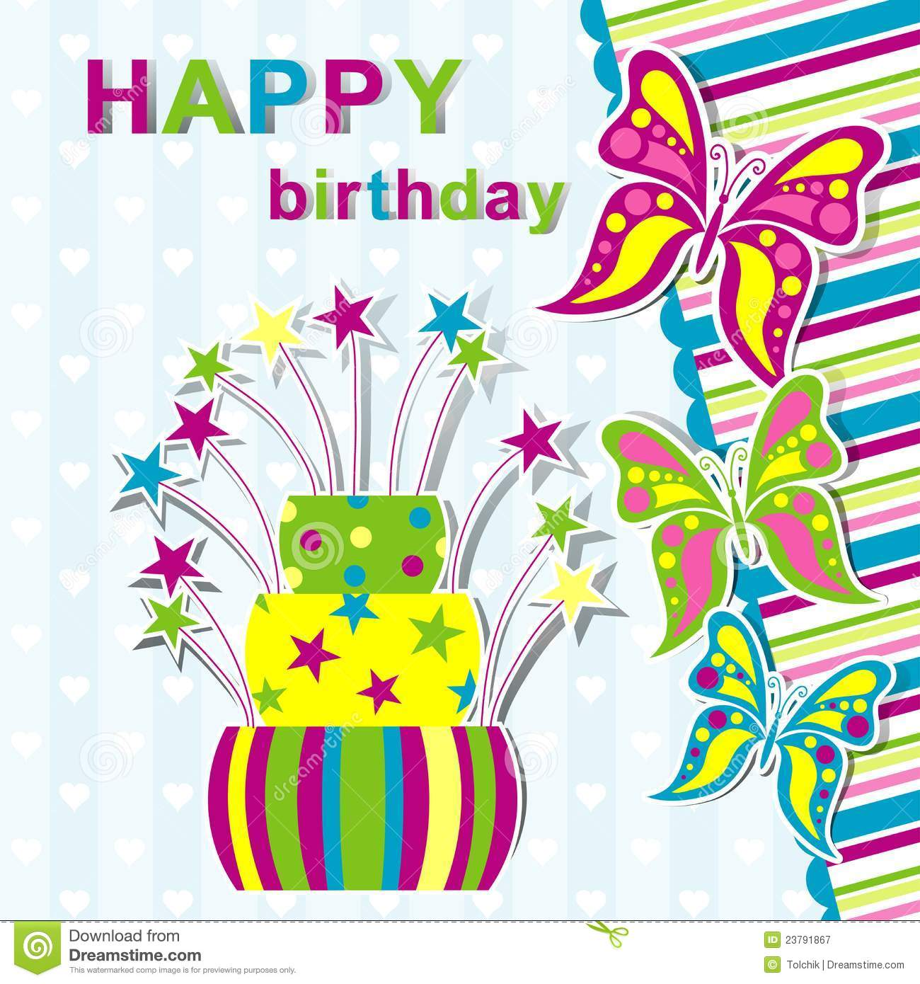 Template Greeting Card Royalty Free Stock Image: Template Birthday Greeting Card Royalty Free Stock