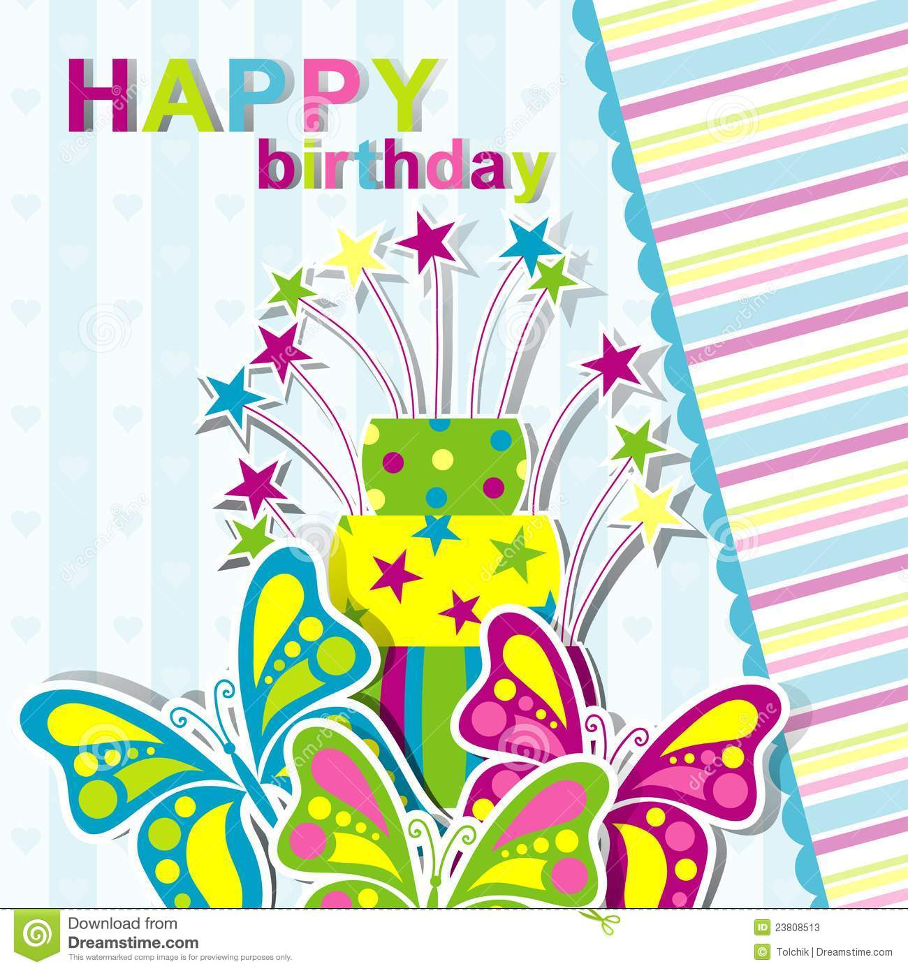 Template Greeting Card Royalty Free Stock Image: Template Birthday Greeting Card Stock Illustration
