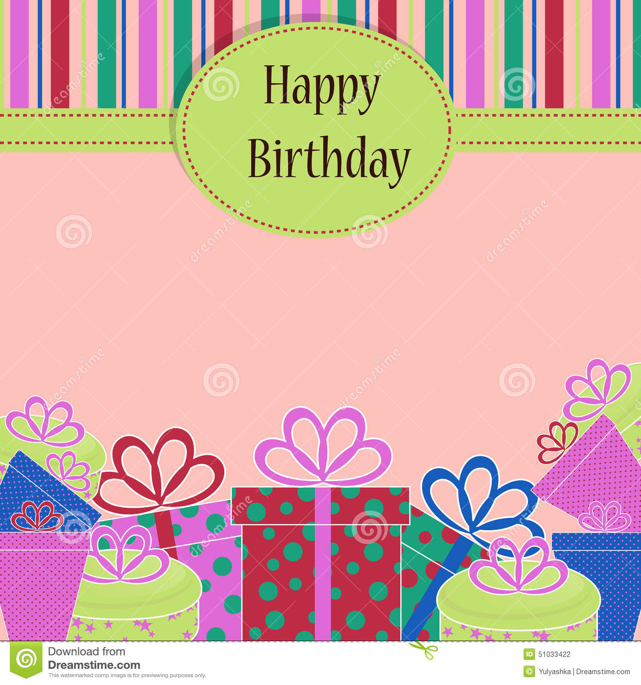 template birthday greeting card stock illustration illustration of