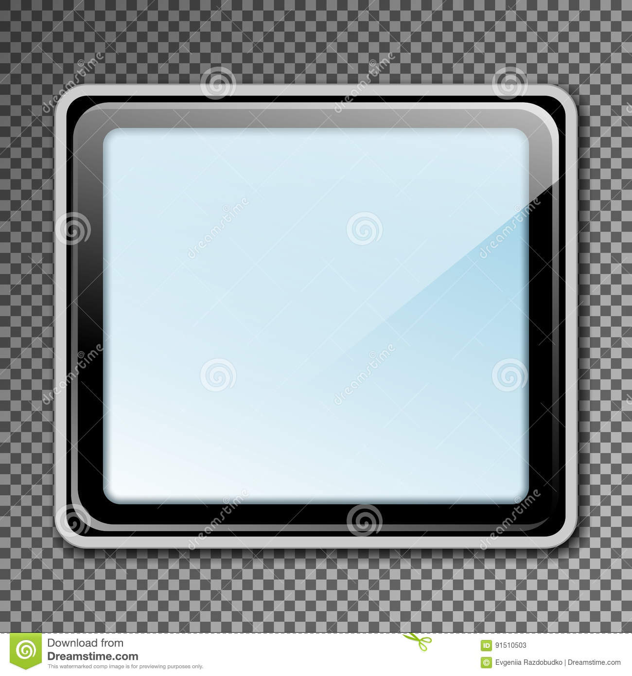 Template Blank Mockup Outdoor Lightbox For Advertising And