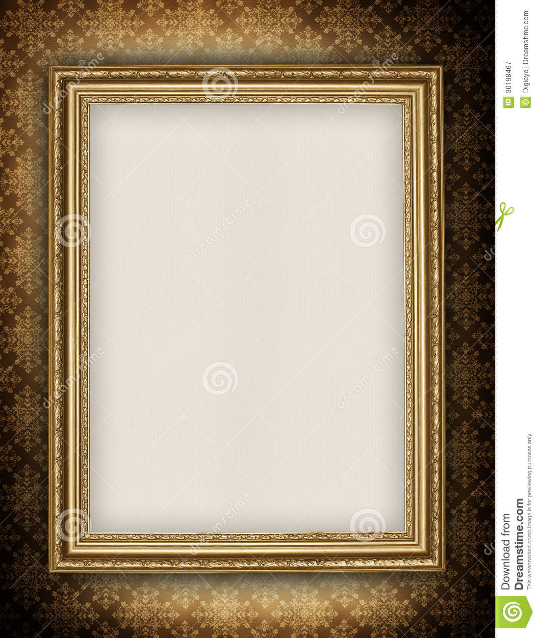 Blank Sheet In Picture Frame Royalty Free Stock ...