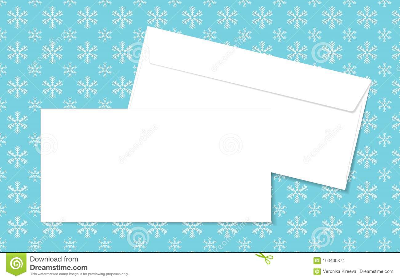template blank vector envelopes on christmas background with