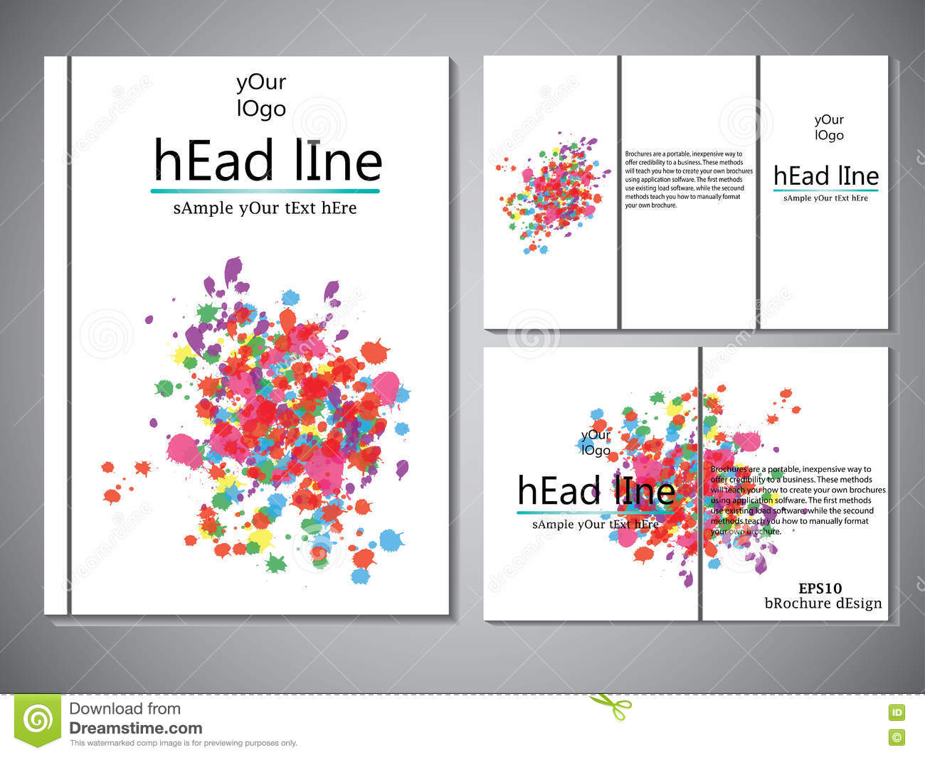 template of book cover for brochure flyer annual report vector