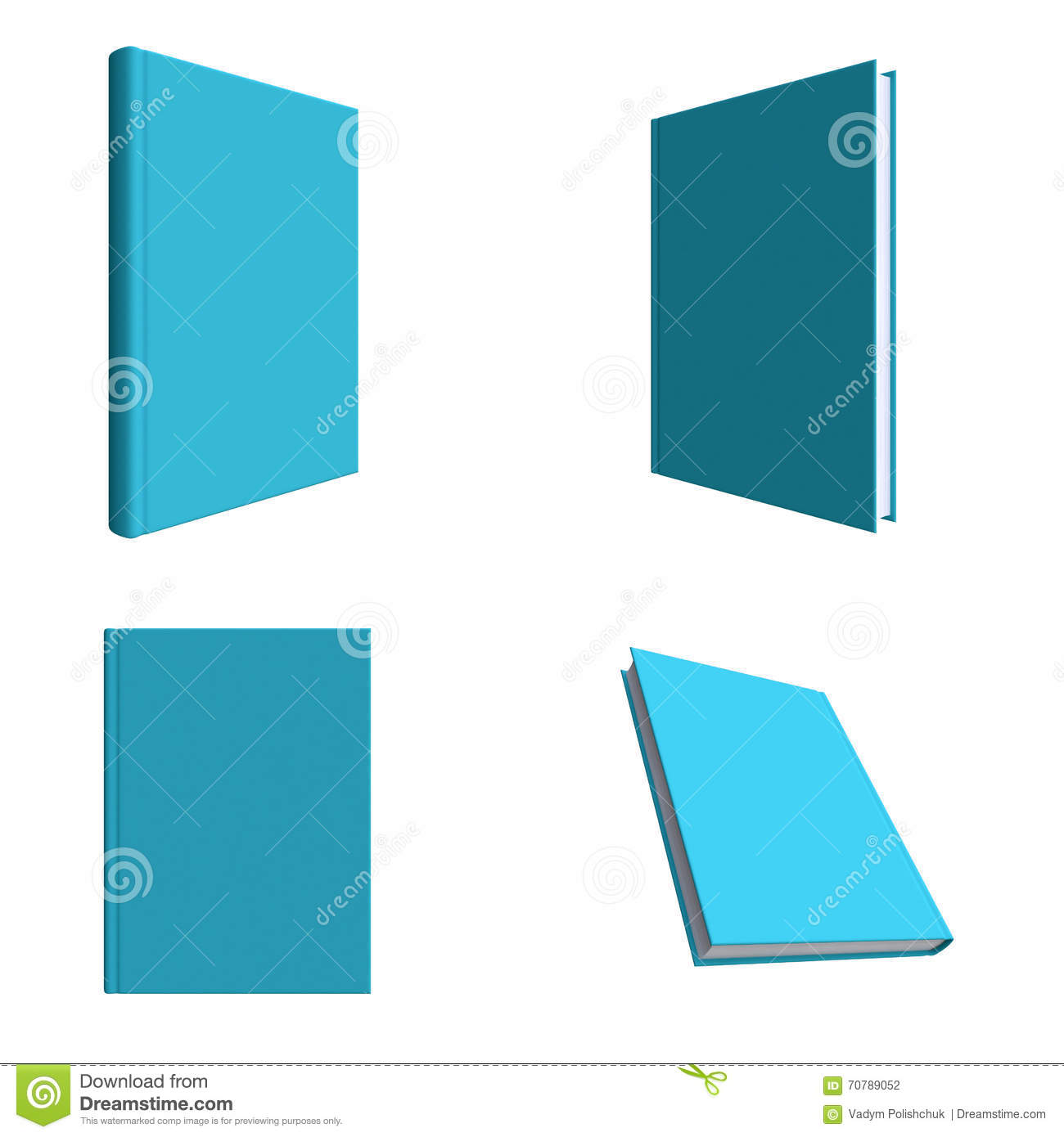template book cover for presentation of printed projects stock