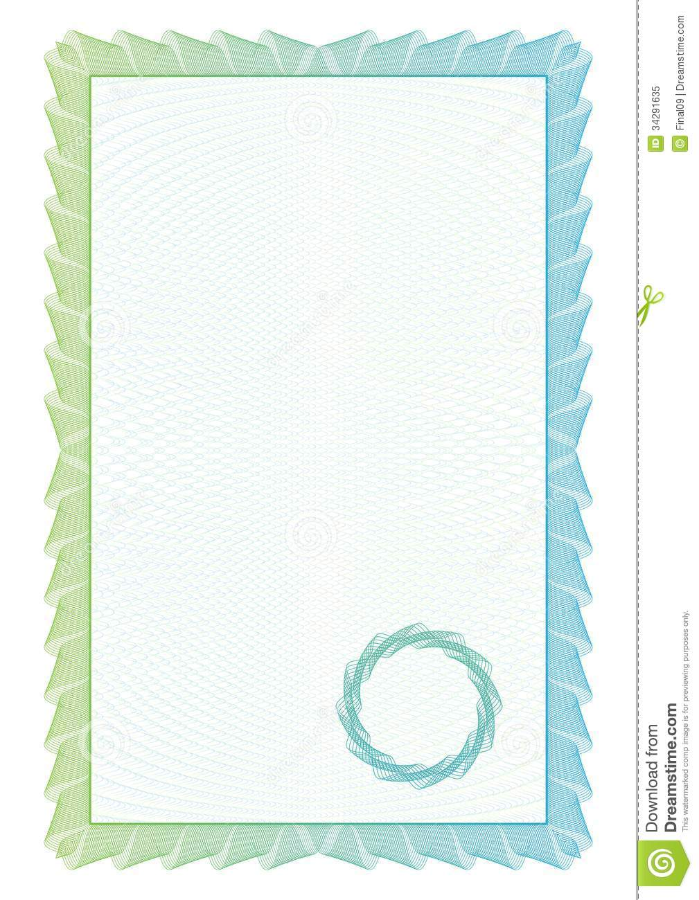 Template Border Diplomas Certificate Stock Vector Illustration Of