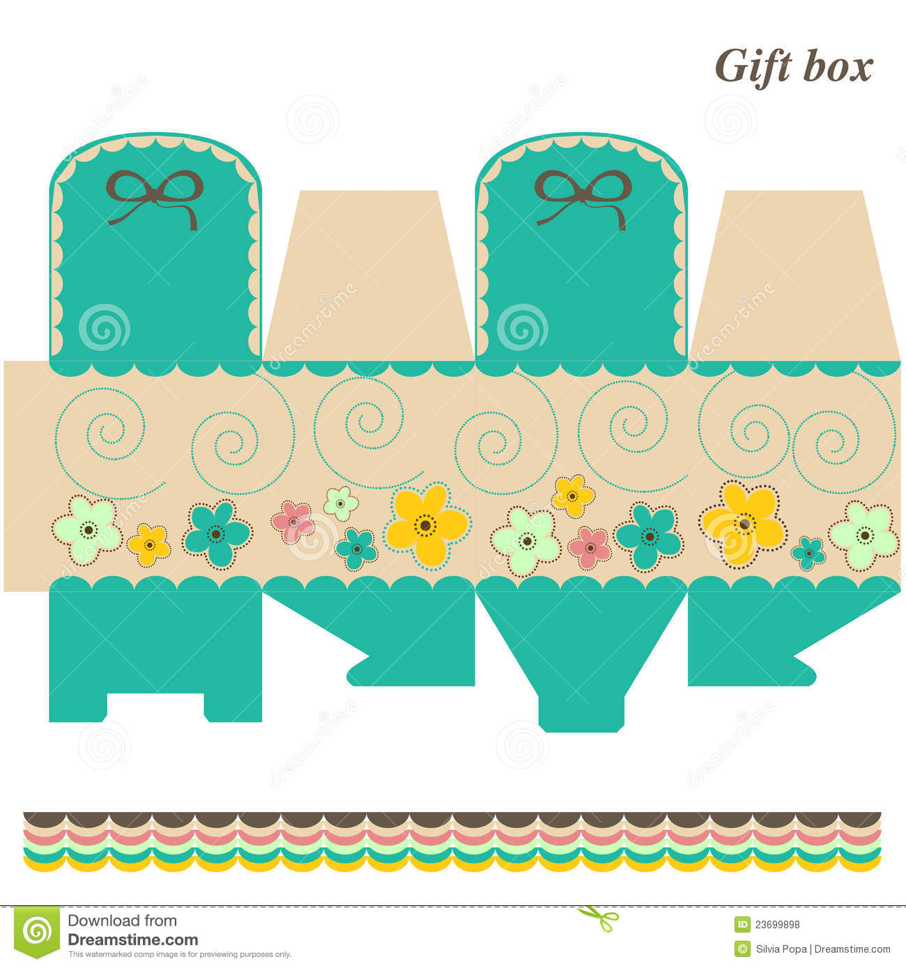 Template Box - Gift Or Candy Stock Vector - Illustration of nature ...