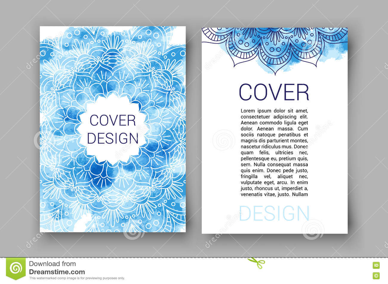 Quran Book Cover Template : Template brochure pages ornament vector illustration